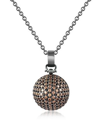 Semi-Sphere Pendant Necklace