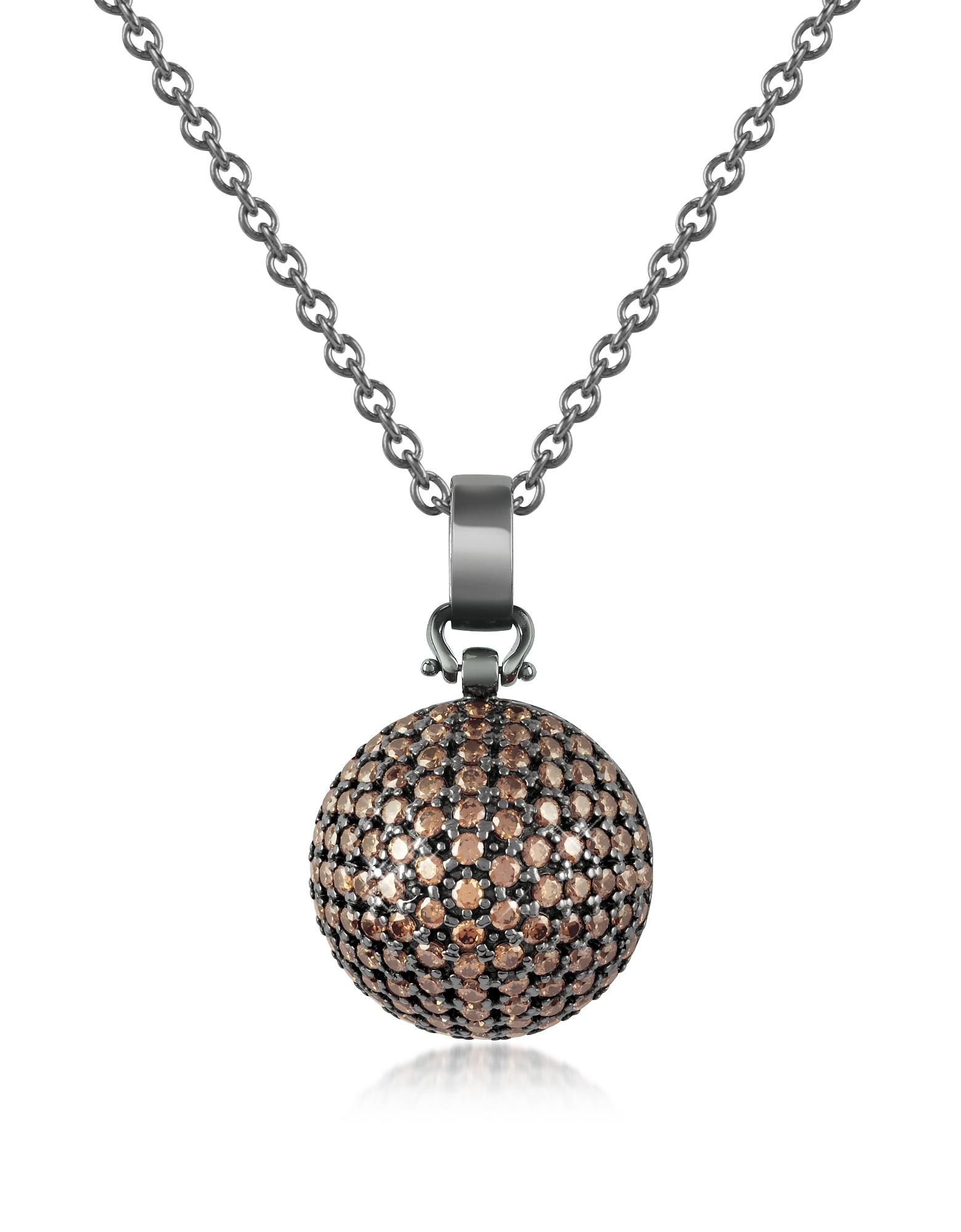 Azhar Necklaces, Semi-Sphere Pendant Necklace