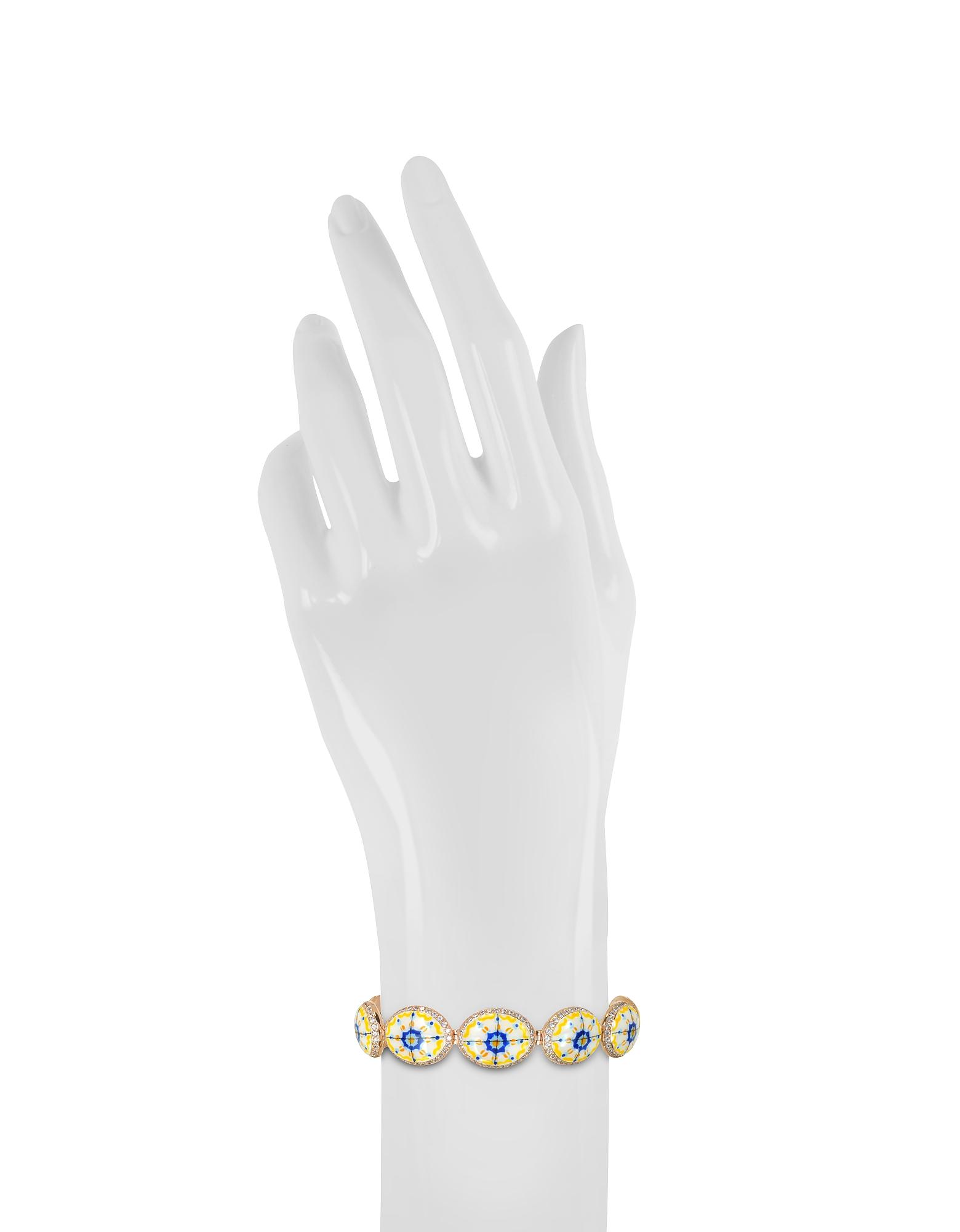 Capri Silver, Zircon and Enamel Bracelet от Forzieri.com INT