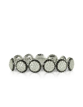 Azhar - Two Tone Cubic Zirconia & Sterling Silver Bracelet