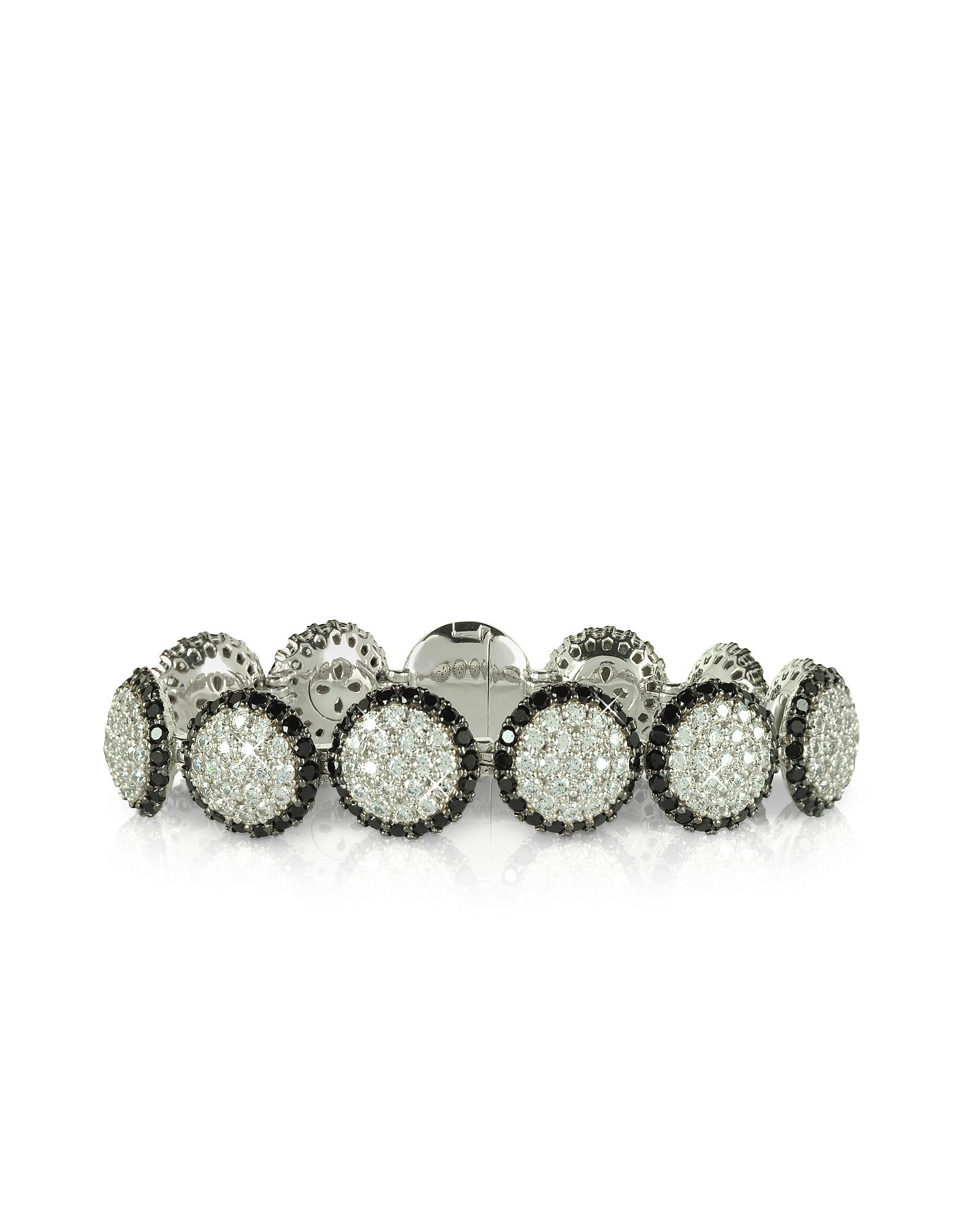 Azhar Bracelets, Two Tone Cubic Zirconia & Sterling Silver Bracelet