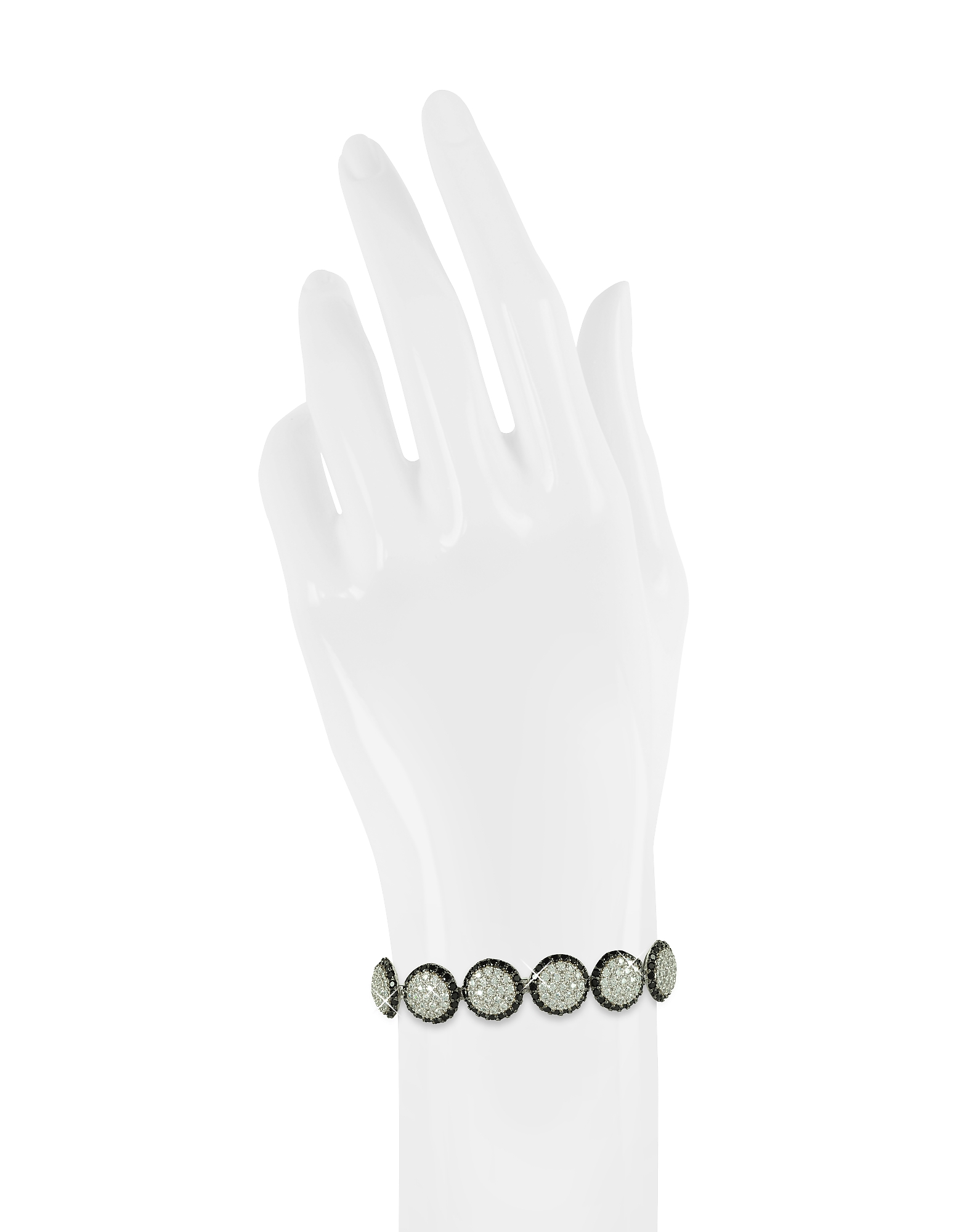 Two Tone Cubic Zirconia & Sterling Silver Bracelet от Forzieri.com INT