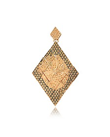 Rosa Silver and Zircon Mono Earring - Azhar