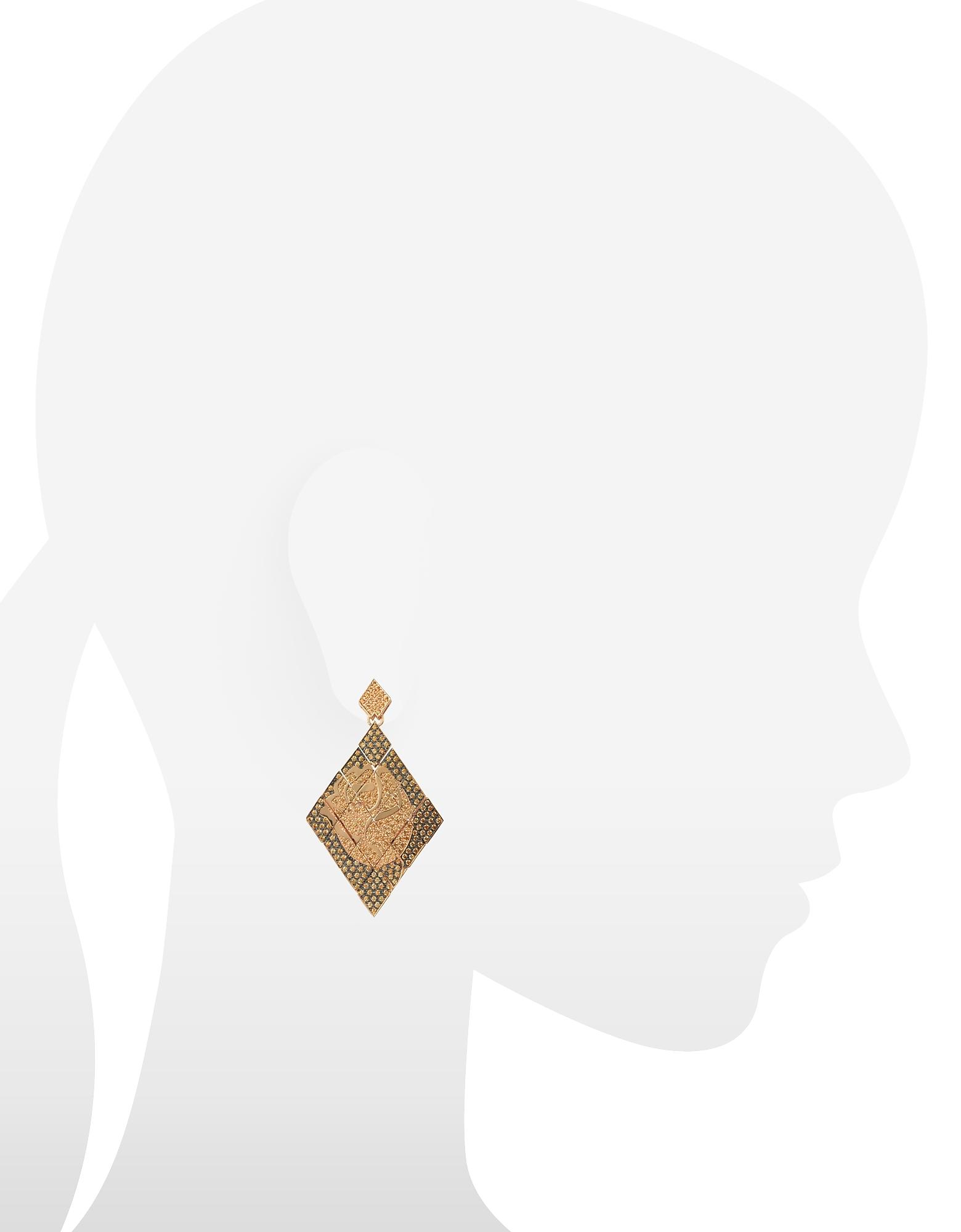 Rosa Silver and Zircon Mono Earring от Forzieri.com INT