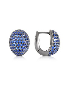 Blue Cubic Zirconia Earrings - Azhar