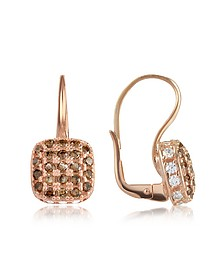 Cubic zirconia and Sterling Silver Square Earrings - Azhar