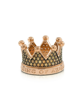 Azhar - Re Silver and Zircon Crown Ring
