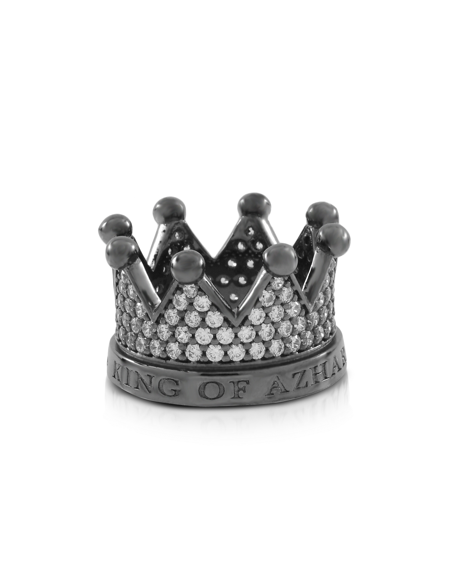 Azhar Rings, Re Silver and Zircon Crown Ring