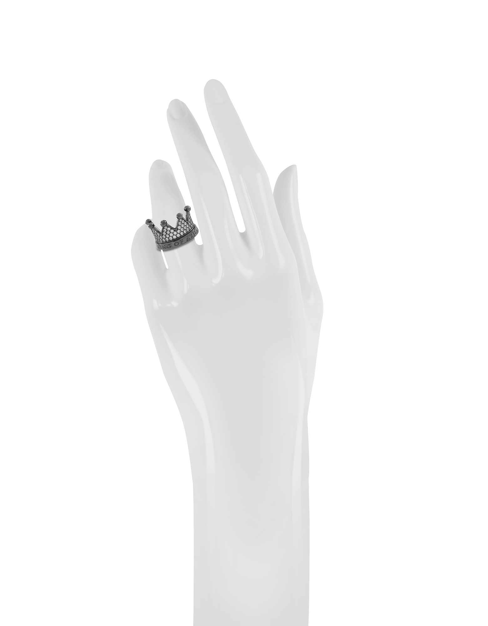 Re Silver and Zircon Crown Ring от Forzieri.com INT