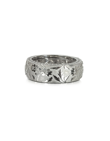Azhar - Bassorilievo Silver and Zircon Men's Ring