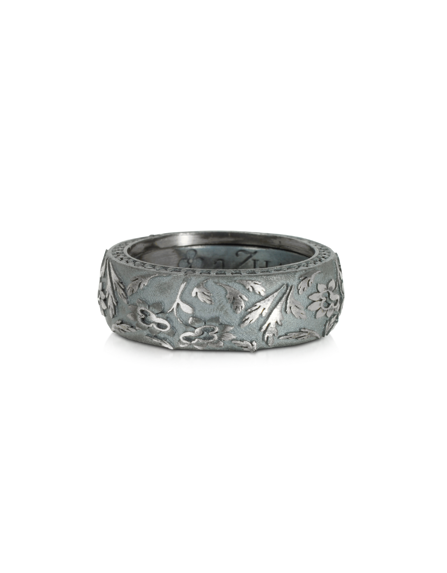 Image of Bassorilievo Silver and Zircon Men's Ring