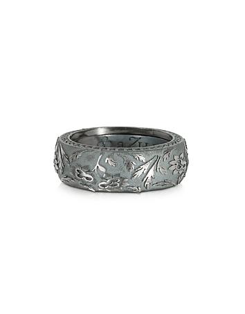 Azhar - Bassorilievo Silver and Zircon Men's Ring