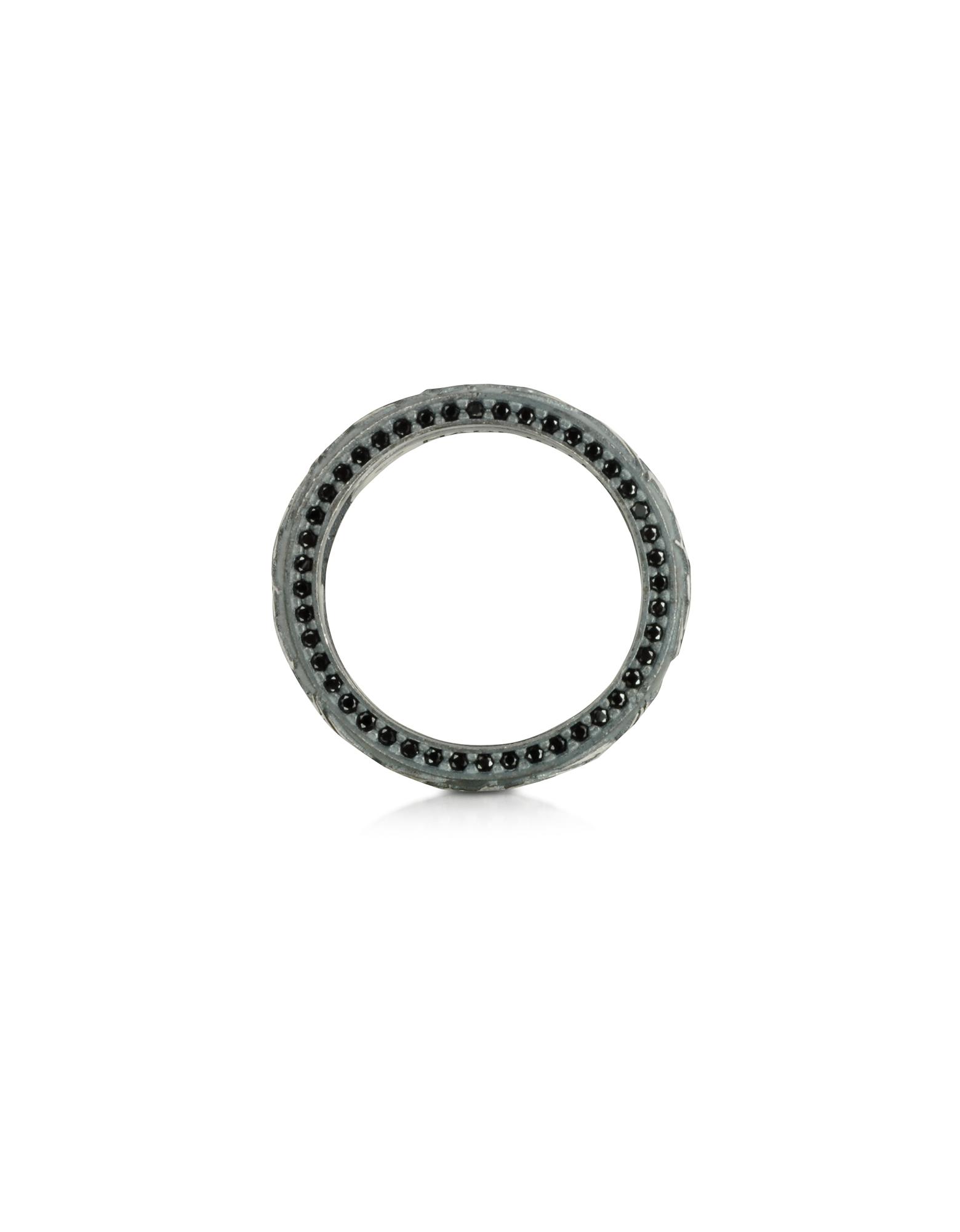 Bassorilievo Silver and Zircon Men's Ring от Forzieri.com INT