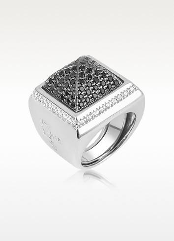 Ring mit schwarzen Zirkonen - Azhar