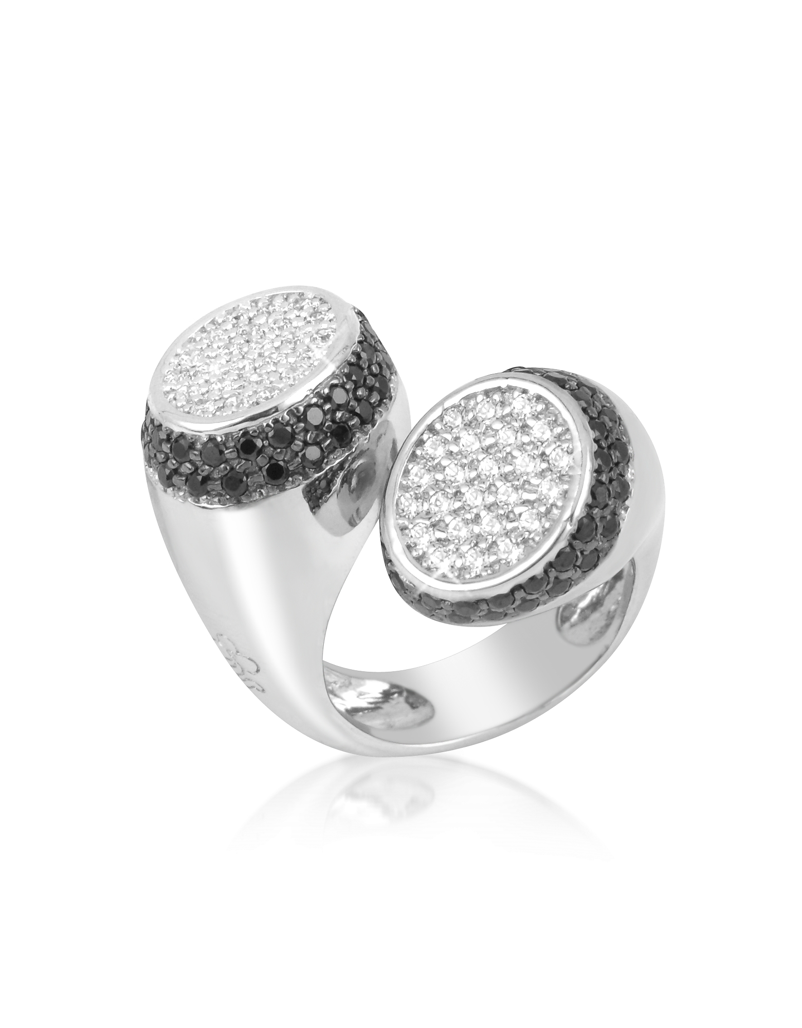 Azhar Rings, Black and White Contrarie' Ring