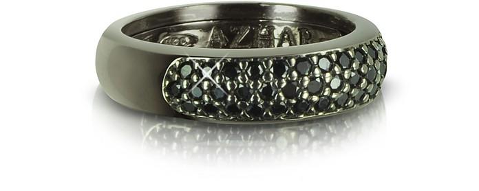Black Cubic Zirconia & Sterling Silver Ring - Azhar