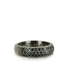 Ring aus Stelingsilber mit schwarzen Zirkonen - Azhar