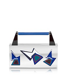 Ziggy Two Faces Palladium Plated Brass and Viscose Clutch - Avril 8790