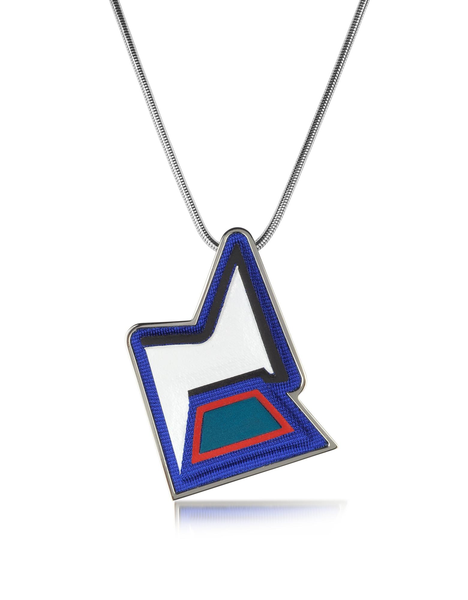 Ziggy Easy - Ожерелье из Меди с Напылением Палладия и Разноцветной Вискозы