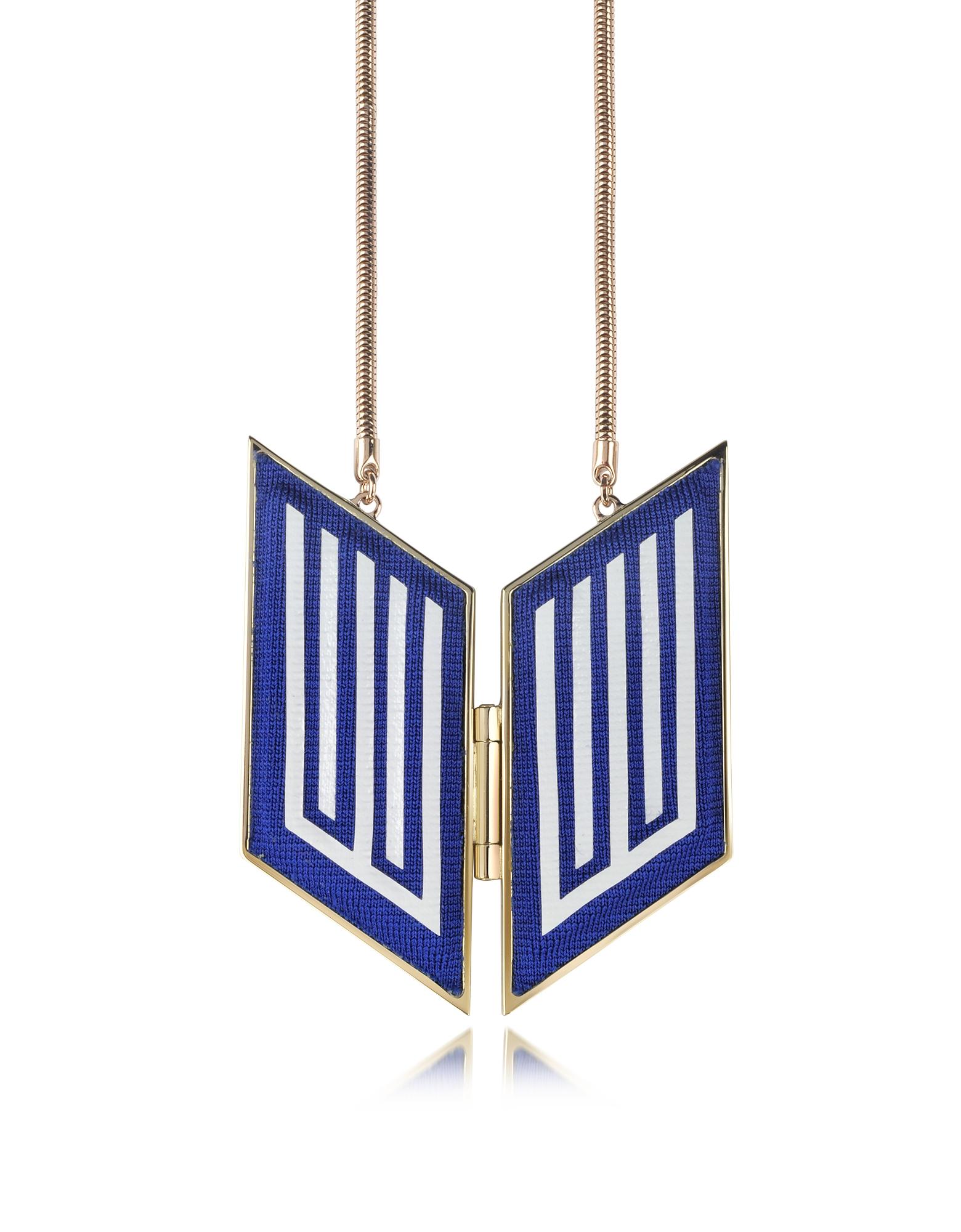 Rigore Easy - Ожерелье из Меди с Напылением Светлого Золота и Вискозы