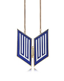 Rigore Easy Light Gold-Plated Brass and Viscose Necklace - Avril 8790