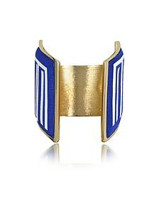 Rigore Light Gold-Plated Brass and Multicolor Viscose Bangle - Avril 8790