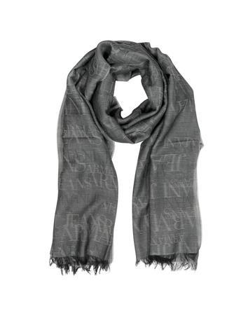 Lux-ID 317799 Signature Black/Light Gray Wool Blend Men's Scarf