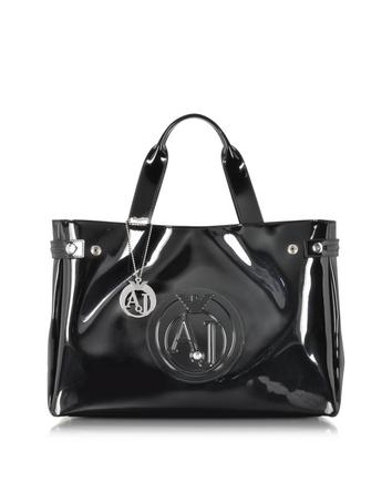 Large Faux Patent Leather Tote