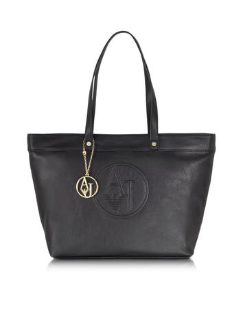 Large Faux Leather Zip Tote Bag