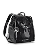 Black Patent Eco Leather Backpack - Armani Jeans