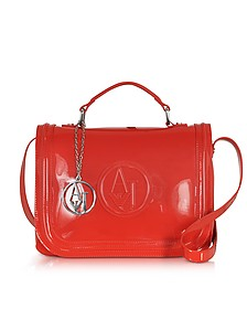 Red Patent Eco Leather Shoulder bag - Armani Jeans
