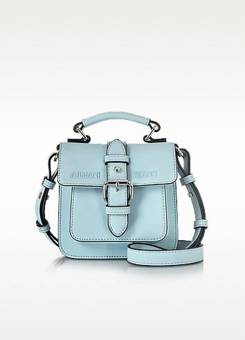 New Light Blue Eco Leather Crossbody Bag - Armani Jeans