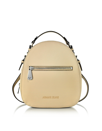 Light Beige Eco Leather Backpack