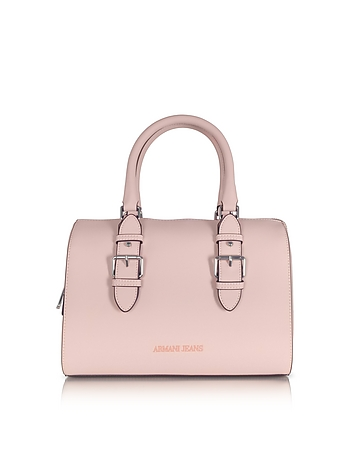 New Light Pink Eco Leather Satchel Bag