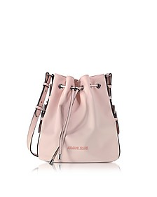 New Light Pink Eco Leather Bucket Bag - Armani Jeans