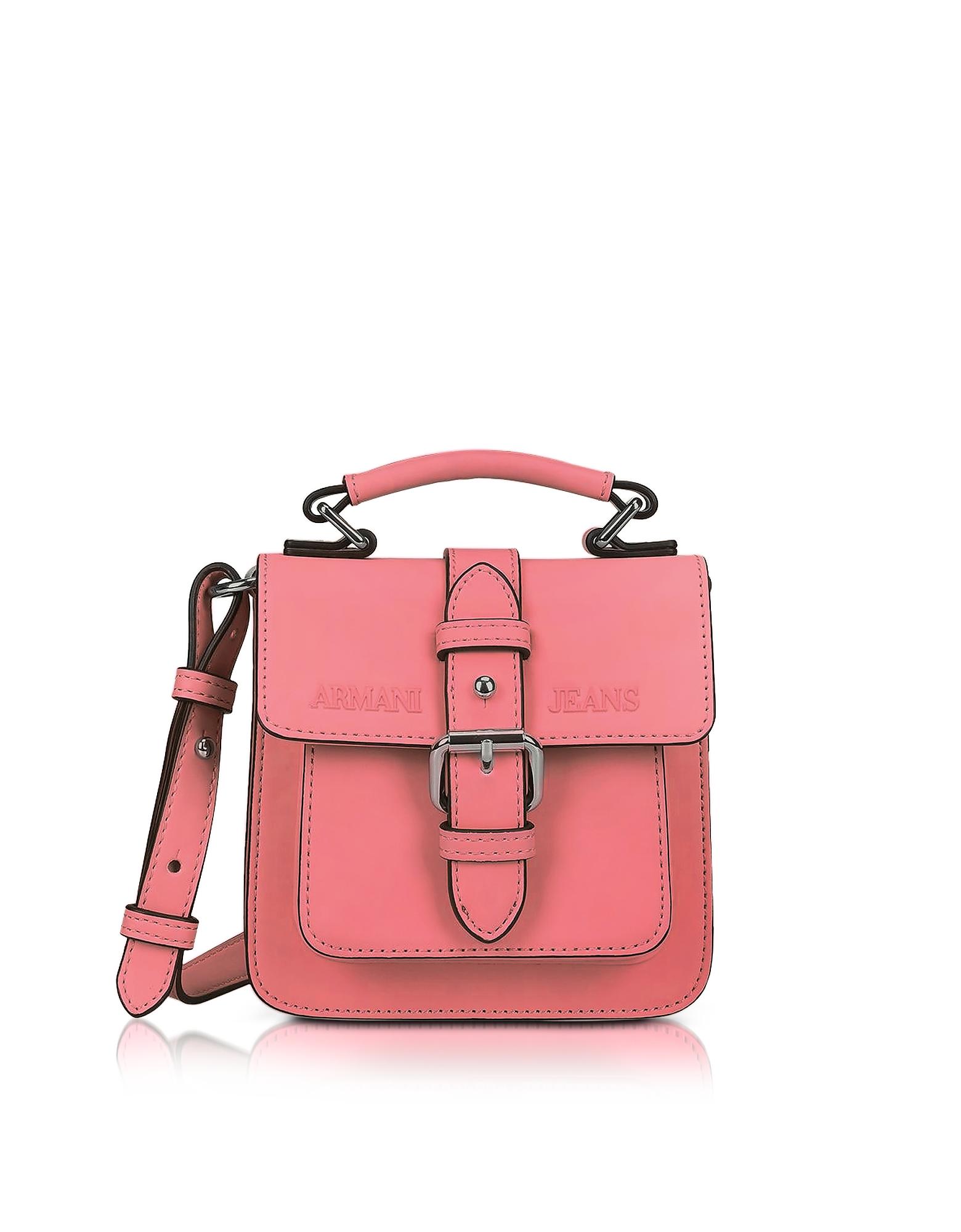 Armani Jeans Handbags, New Light Geranio Eco Leather Crossbody Bag