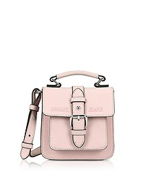 New Light Pink Eco Leather Crossbody Bag - Armani Jeans