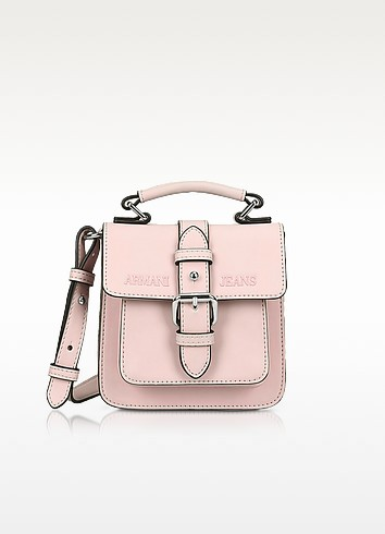 New Light Pink Eco Leather Crossbody Bag - Armani Jeans