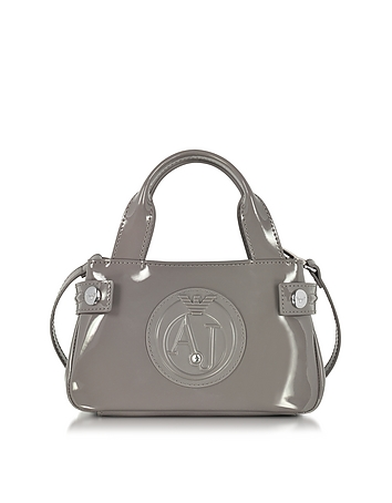 Armani Jeans - Signature Mini Patent Leather Tote Bag