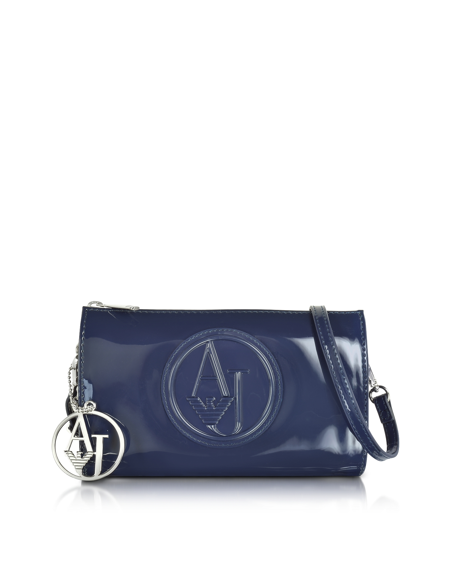 Armani Jeans Handbags, Faux Patent Leather Mini Crossbody