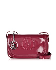 Signature Faux Patent Leather Crossbody - Armani Jeans
