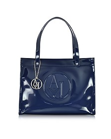 Faux Patent Leather Tote - Armani Jeans