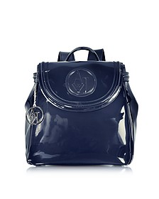 Faux Patent Leather Backpack - Armani Jeans