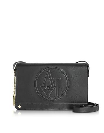 Armani Jeans - Black Faux Leather Crossbody Bag