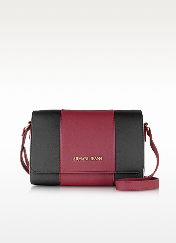 Armani Jeans Сумка Через Плечо из Искусственной Сафьяновой Кожи с Цветными Блоками