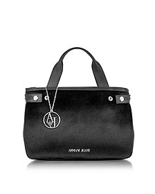 Eco Leather & Hair-calf Tote Bag - Armani Jeans