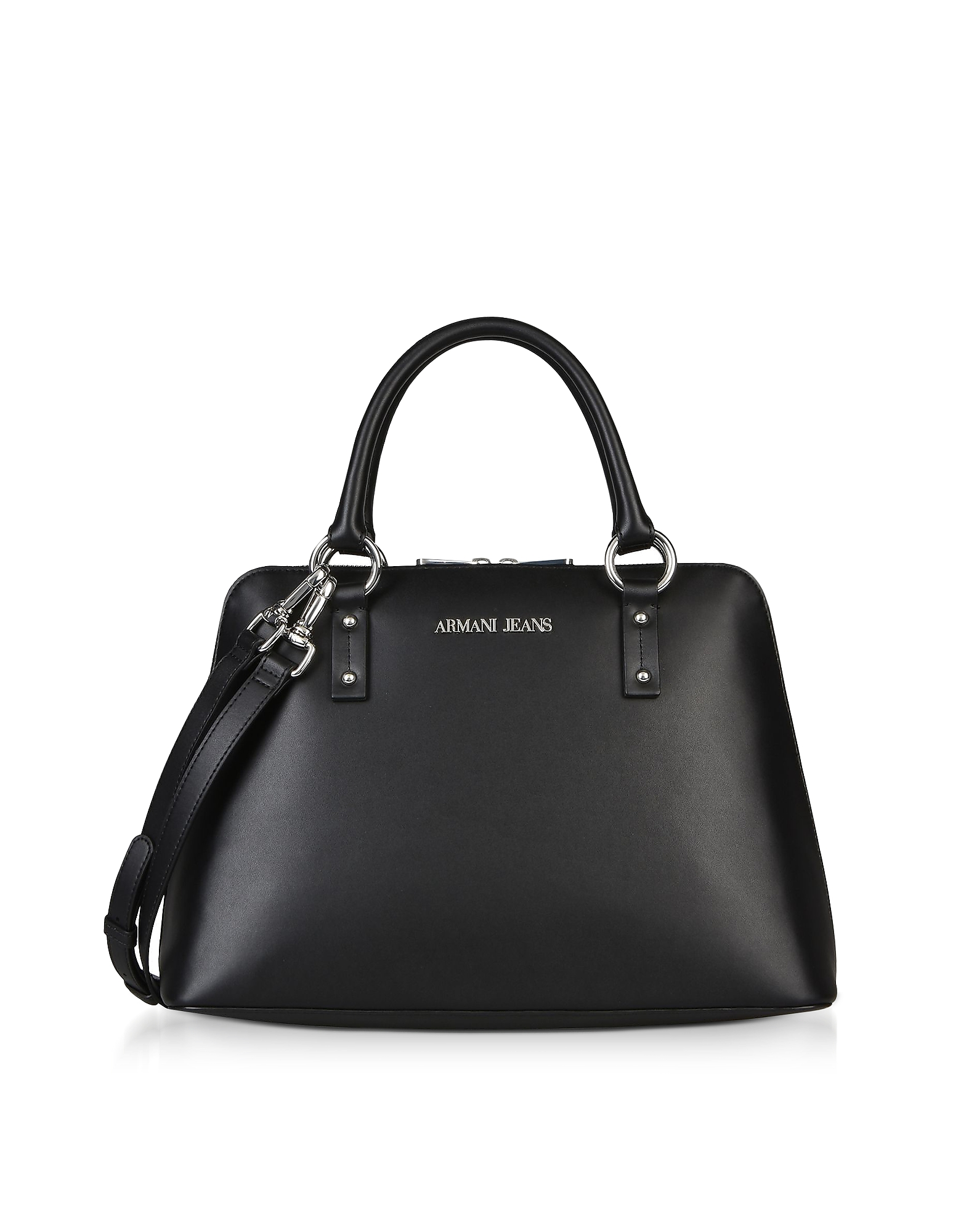 Black Signature Bowler Bag