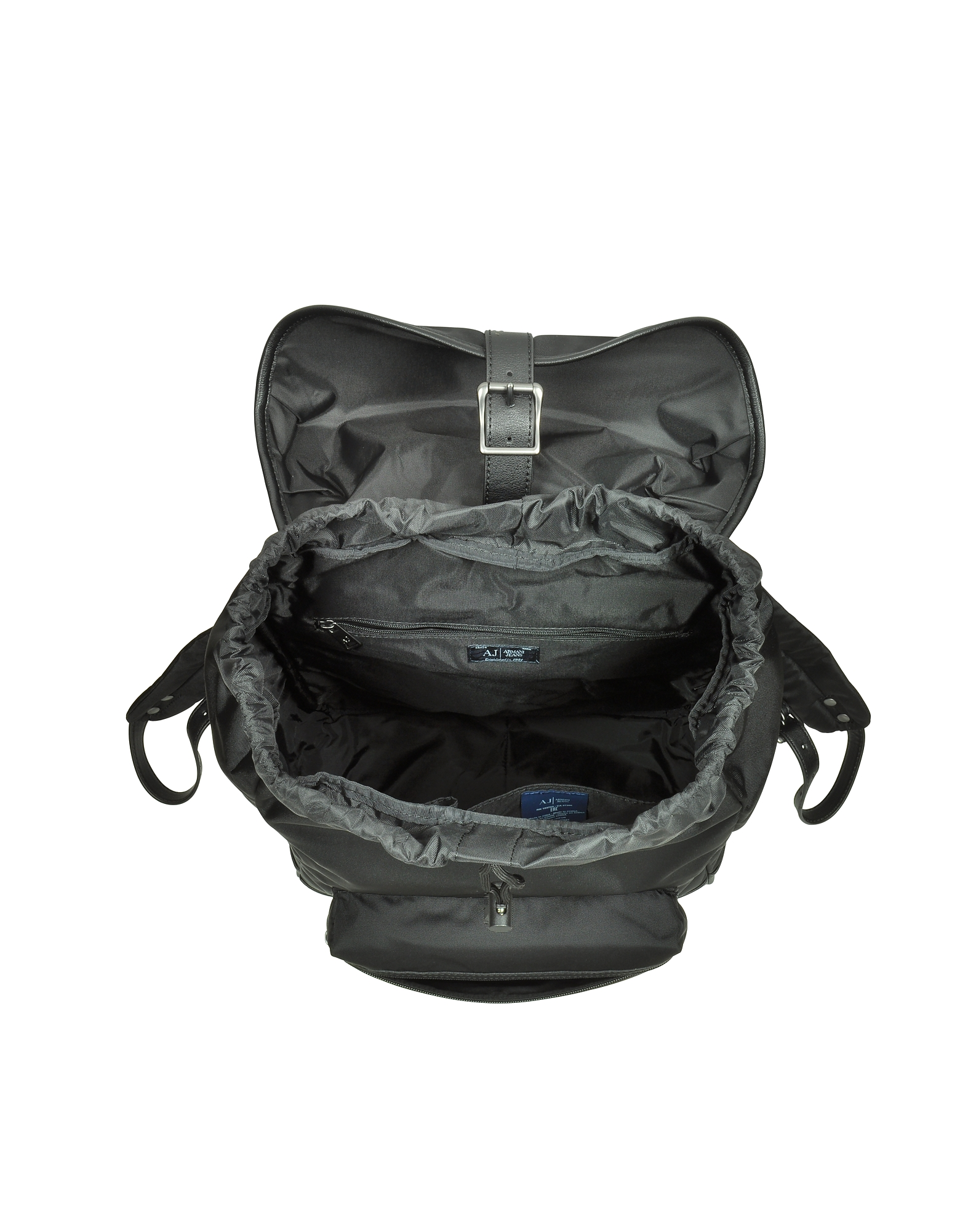 Black Canvas and Eco Leather Men's Backpack от Forzieri.com INT