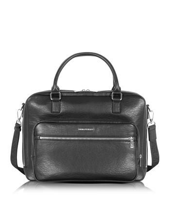 Black Eco Leather Men's Briefcase