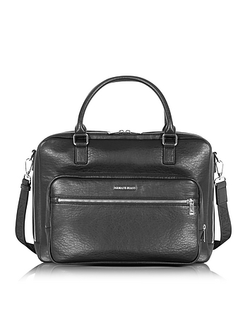 Black Eco Leather Men's Briefcase